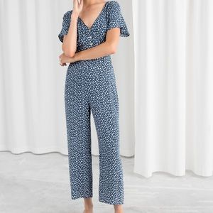 & other stories button down jumpsuit